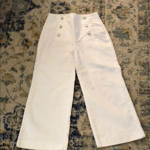 Zara white sailor pants